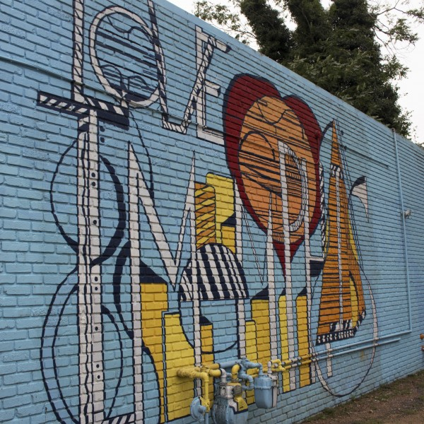 "I Love Memphis Mural – ""Abstract Love"""