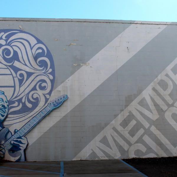 "I Love Memphis Mural, ""St. Blues"""