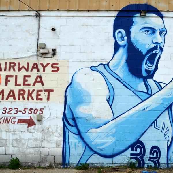 Airways Flea Market/Marc Gasol mural