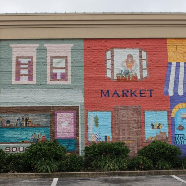 Overton Square Market Mural