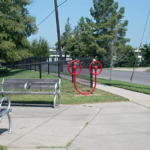 Red Uptown Bike Rack