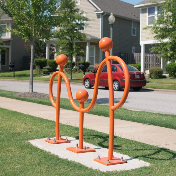 Orange Uptown Bike Rack