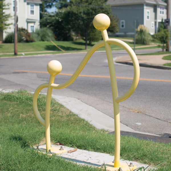 Yellow Uptown Bike Rack