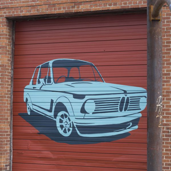 Edge Garage Murals- Blue Car