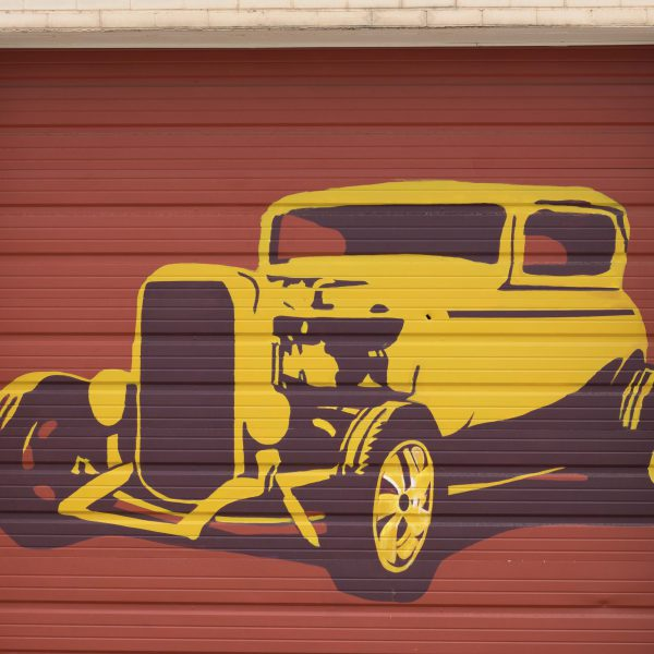 Edge Garage Murals- Yellow Car
